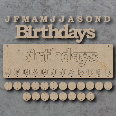 Birthdays mdf Sign