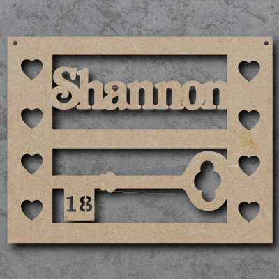 Personalised 18th Craft Sign