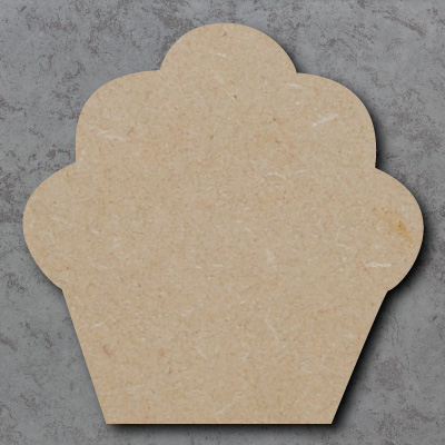 Cupcake Wooden Craft Shapes
