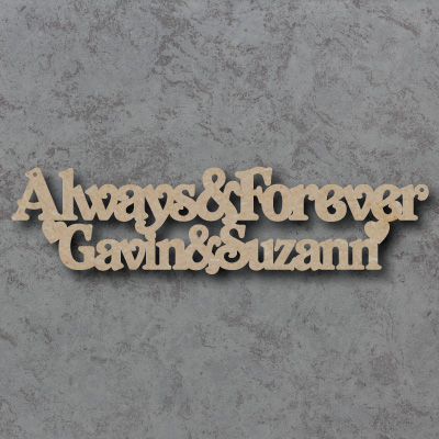 Always & Forever Craft Sign