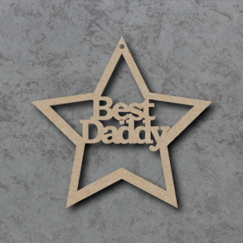 Best Daddy Star Craft Sign