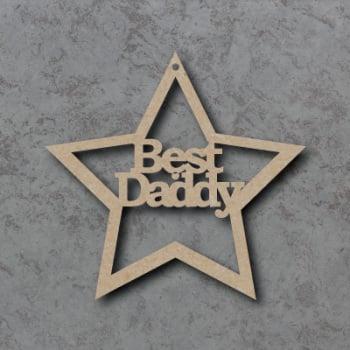 Best Daddy Star Craft Sign