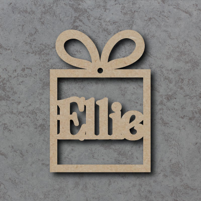 Personalised Present mdf Shapes