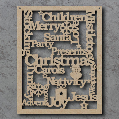 Christmas Words Craft Sign