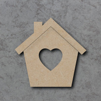 Heart Bird House Blank Craft Shapes