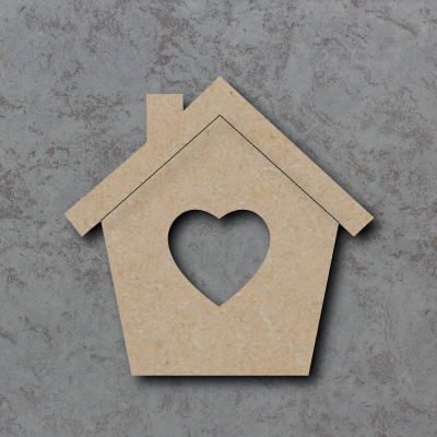 Heart Bird House Craft Shapes