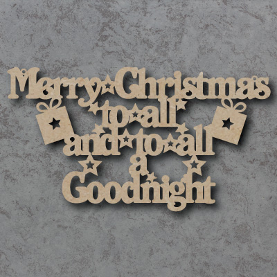 Merry Christmas to all and to all a Goodnight Craft Sign