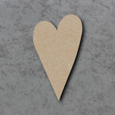Heart mdf Craft Shapes