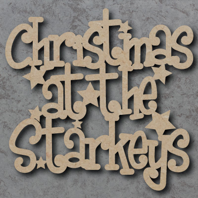 Christmas at the \'Your Name\' Craft Sign (Funky Font)