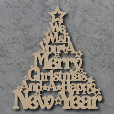 Merry Christmas Tree Craft Sign