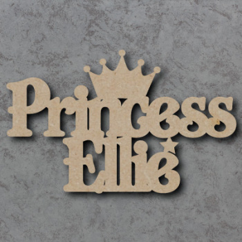 Personalised Princess Craft Sign