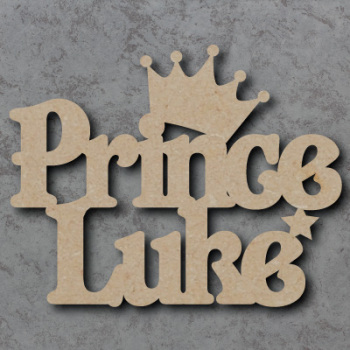 Personalised Prince Craft Sign