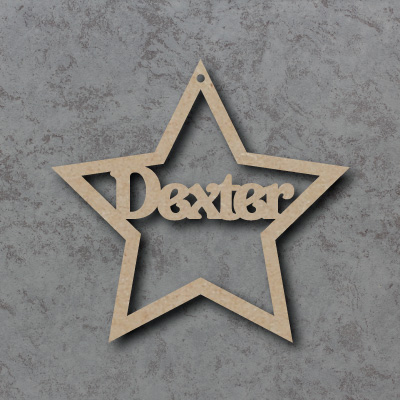 Personalised Star Bauble mdf Shapes