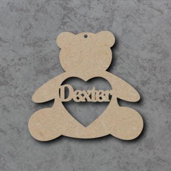 Personalised Teddy Bauble