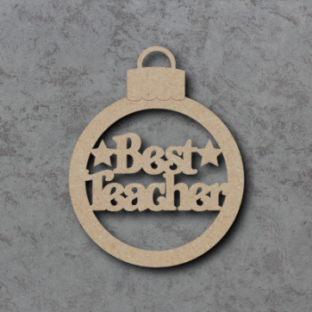 Best Teacher Bauble