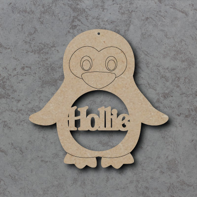 Personalised Penguin mdf Shapes