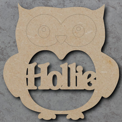 Personalised owl mdf Shapes