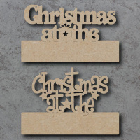 Blank Christmas at the... Craft Sign