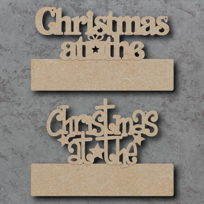 Blank Christmas at the Craft Sign