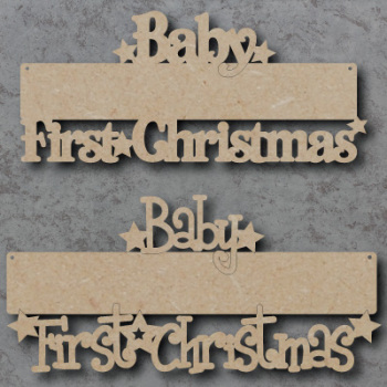 Blank Babys First Christmas Craft Sign