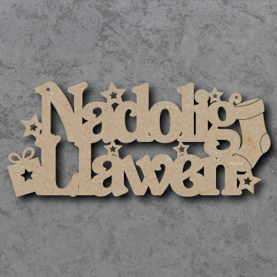 Nadolig Llawen Craft Sign