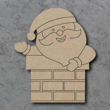 Santa in Chimney Detailed Craft Shapes