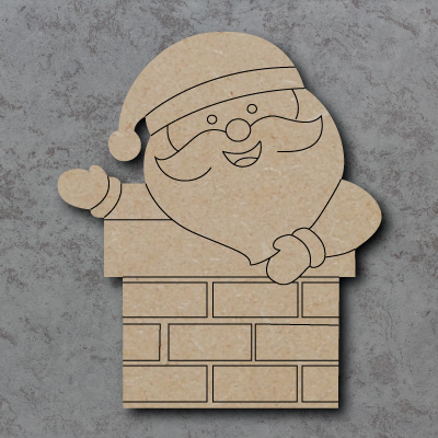 Santa in Chimney mdf Shapes