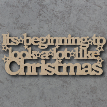 Its Beginning to Look alot Like Christmas Craft Sign