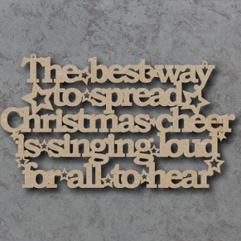 The Best Way to Spread Christmas Cheer Craft Sign