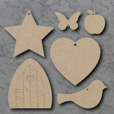 Sample Pack of wooden craft shapes
