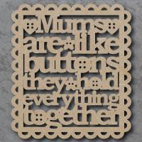 Buttons Sign - Mums, Nans, Grandmas