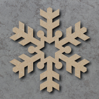 Snowflake 02 Blank Craft Shapes