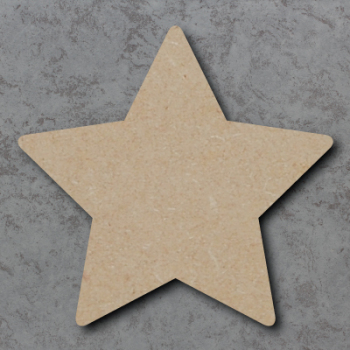 Star 01 Round Corners - Blank Craft Shapes