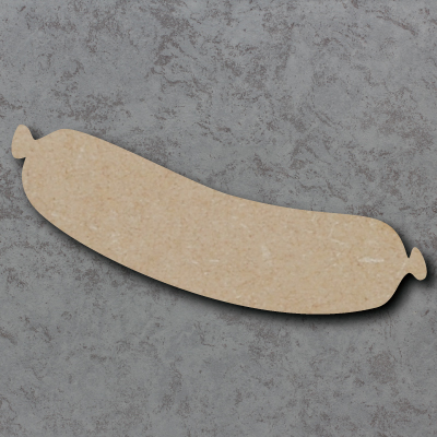 Sausage Wooden Craft Shapes