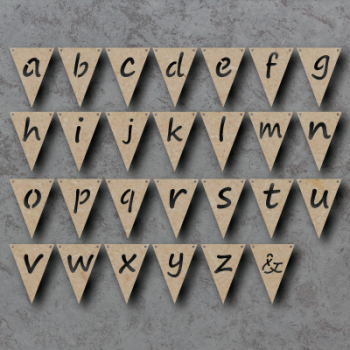 Triangle / Flag Alphabet Bunting mdf Shapes  **PRICE PER FLAG**