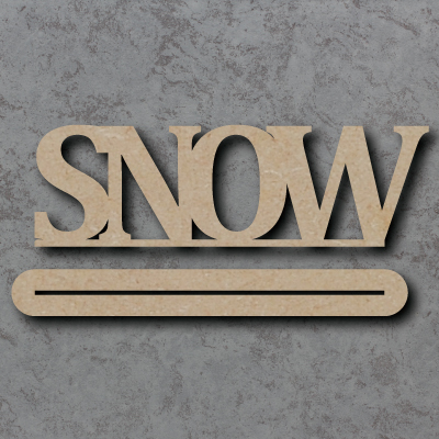 Snow Freestanding Craft Sign