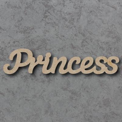 Princess Script Font Wooden Words