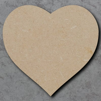 Heart Wooden mdf Craft Shapes