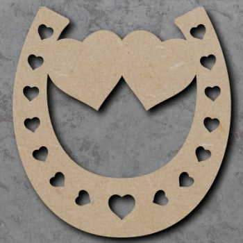 Horse Shoe - Twin Hearts Craft Shapes