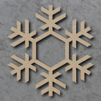 Snowflake 03 Blank Craft Shapes