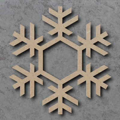 Snowflake Wooden Craft Shapes