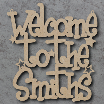 Welcome to the \'Your Name\' Sign (Funky Font) Craft Sign