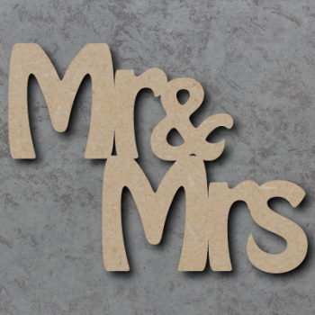 Mr & Mrs Stepped Craft Sign