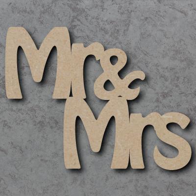 Mr & Mrs Stepped Craft Sign