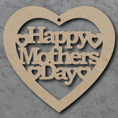 Happy Mothers Day Heart With Hearts
