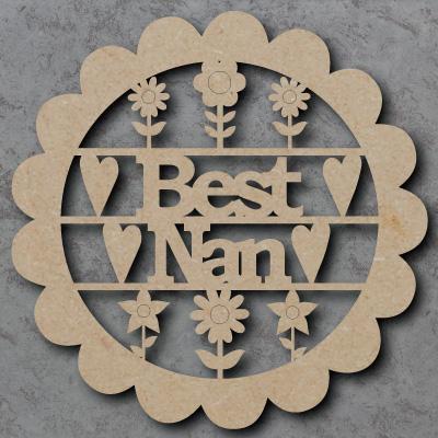Best Nan Flower Sign mdf Shapes