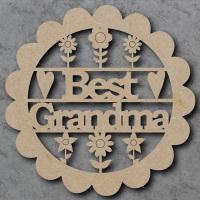 Best Grandma Flower Sign
