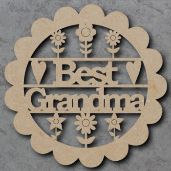 Best Grandma Flower Sign