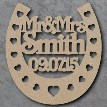 Personalised Horse Shoe - Wedding Craft