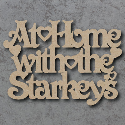 At Home with the...(Surname) Craft Sign
